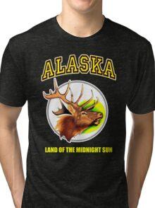 Alaska Land Of Midnight Sun Tri-blend T-Shirt