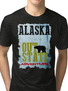 Alaska Out State Adventures Tri-blend T-Shirt