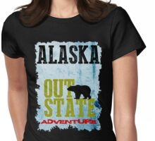 Alaska Out State Adventures Womens Fitted T-Shirt