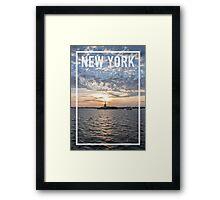 NEW YORK FRAME Framed Print