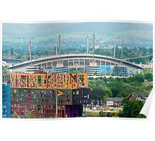 Etihad Stadium, the home of  Manchester City Football Club Poster