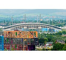 Etihad Stadium, the home of  Manchester City Football Club Photographic Print