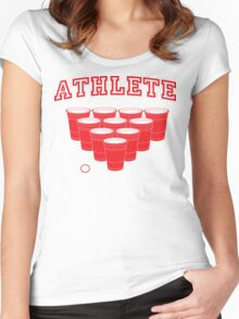 Beer Pong Athlete Women's Fitted Scoop T-Shirt