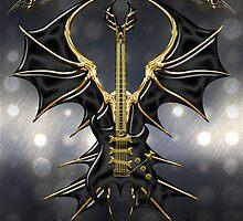 Black Gothic Guitar  by Bluesax