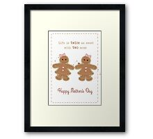 Mother's Day: Two Moms Framed Print