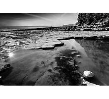 Playing on Llantwit Major Beach, Wales, UK Photographic Print