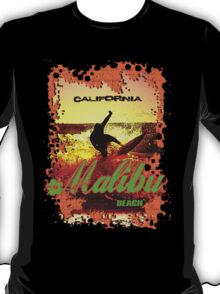 Malibu Beach Surfer T-Shirt