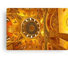 Cathedral Basilice looking up at one of the domes Canvas Print