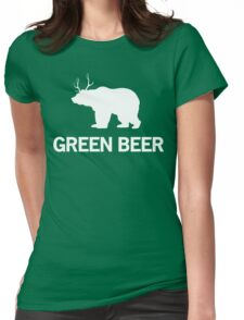 Green Beer Womens Fitted T-Shirt