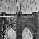 Brooklyn Bridge, New York City, John A. Roebling by Crystal Clyburn
