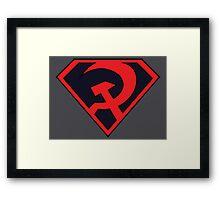 Red Son - Superman Framed Print
