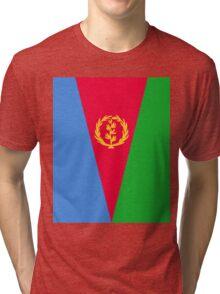 Eritrea Flag Banner Tri-blend T-Shirt