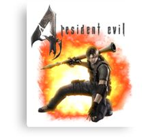 Resident Evil 4 - Leon Canvas Print