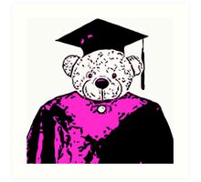 School Bear - Purple Art Print