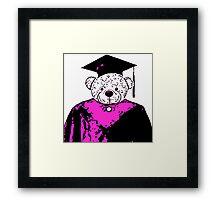School Bear - Purple Framed Print