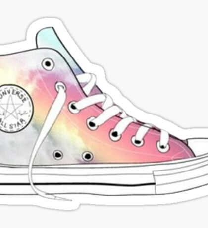 rainbow high tops Sticker