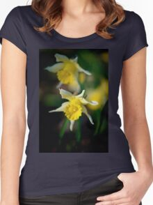 wild daffodils Women's Fitted Scoop T-Shirt