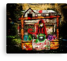 the Devil Selling Promises and Potions Canvas Print