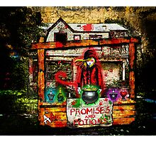 the Devil Selling Promises and Potions Photographic Print