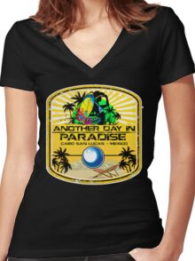 Cabo San Lucas Women's Fitted V-Neck T-Shirt