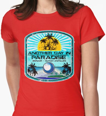 Bonair Beach Party Womens Fitted T-Shirt