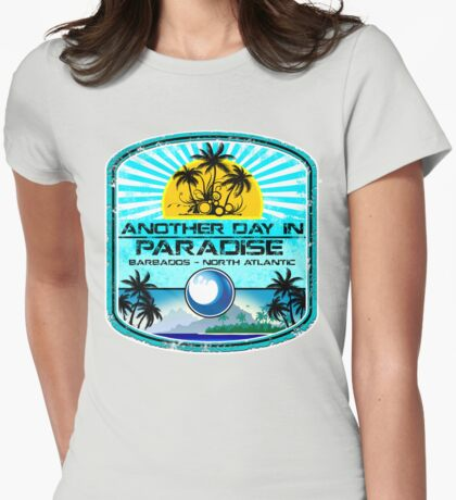 Barbados Beach Island Womens Fitted T-Shirt