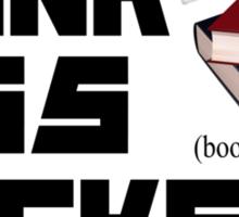Punk Ass Book Jockeys Sticker
