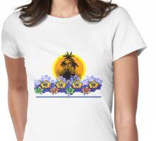 Florist Summer Island Womens Fitted T-Shirt