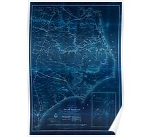 Civil War Maps 0354 Eastern portion of the Military Department of North Carolina Inverted Poster