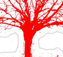 Nature Rocks Red Tree Silhouette  Sticker