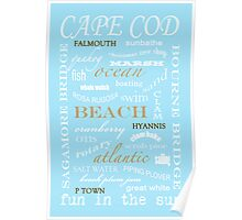 CAPE COD TYPOGRAPHY print Poster
