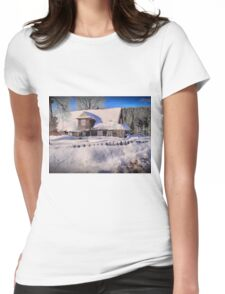 Sunny day after a snow storm  Womens Fitted T-Shirt