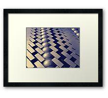 Geometric Shapes of Gold Framed Print