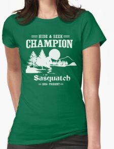 Hide & Seek Champion Sasquatch Womens Fitted T-Shirt