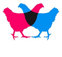 Colorful chicken design by Style-O-Mat