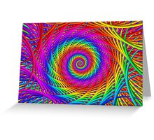 Psychedelic Rainbow Spiral  Greeting Card