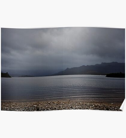 Lake Pedder from Ted's Beach Poster