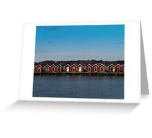 Gothenburg sea huts Greeting Card