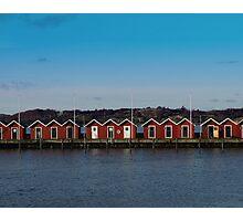 Gothenburg sea huts Photographic Print