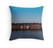 Gothenburg sea huts Throw Pillow