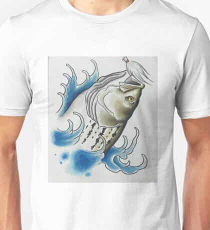 Striped Bass and Bucktail Jig Unisex T-Shirt