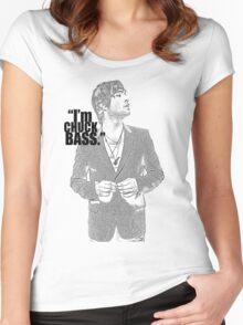 CHUCK BASS Women's Fitted Scoop T-Shirt