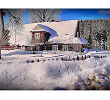 Sunny day after a snow storm  Photographic Print
