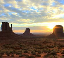 Start of a New Day - Monument Valley by Honor Kyne