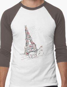 We're So Paris When We Kiss Men's Baseball ¾ T-Shirt