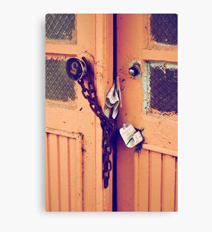 old opened door Canvas Print