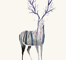 Stag - Woodland by sianmorris