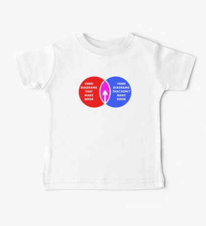 Nonsense Venn Diagram (W) Baby Tee
