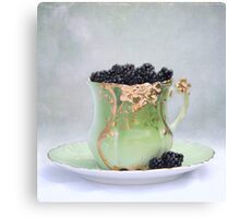 Cup O Berries Canvas Print