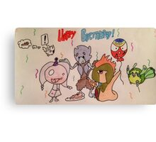 Happy birthday fakemon Canvas Print